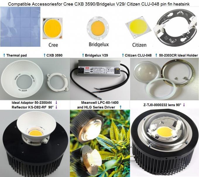 Hydroponic Cree Led Grow Lights 200 Watt With Round Pin