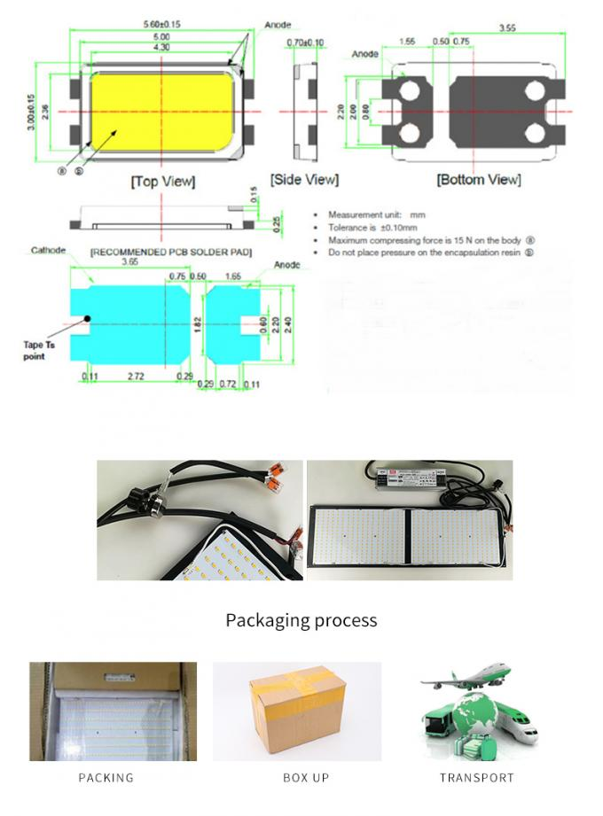 HLG Driver Cob LED Grow Light 240 Watt With 2pcs LM561C S6 288 Board