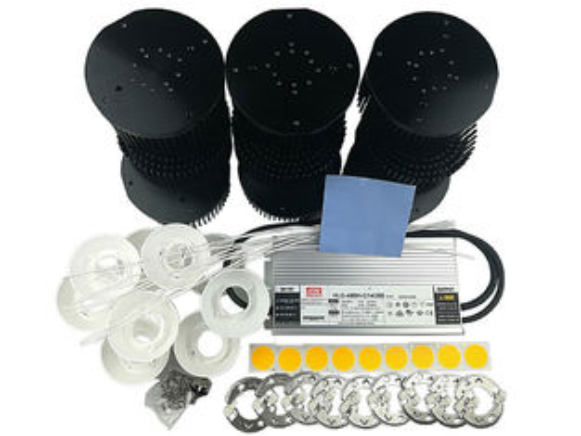 9pcs Cree Cxb3590 3500k Led Chip Diy Grow Light Kit With